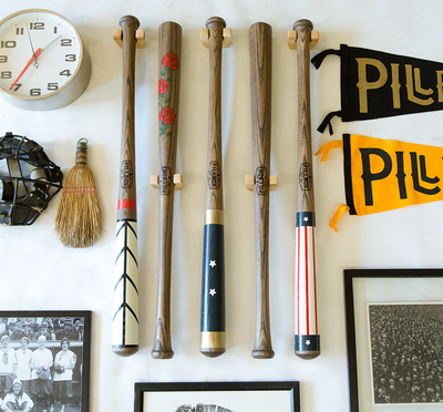 Horizontal Baseball Bat Hanger Set