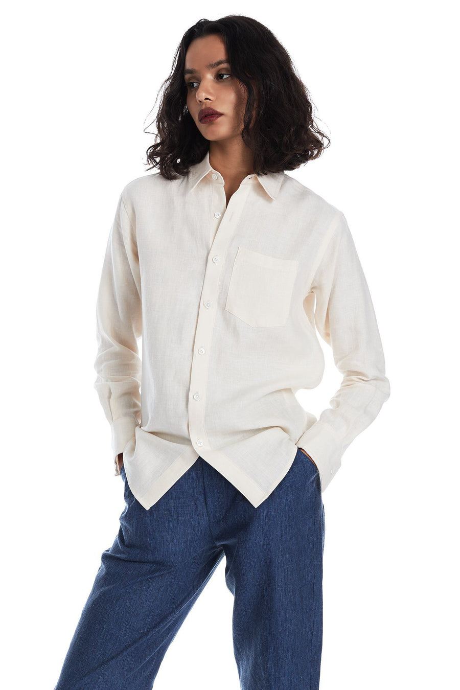 Long-Sleeved Shirt in Shell