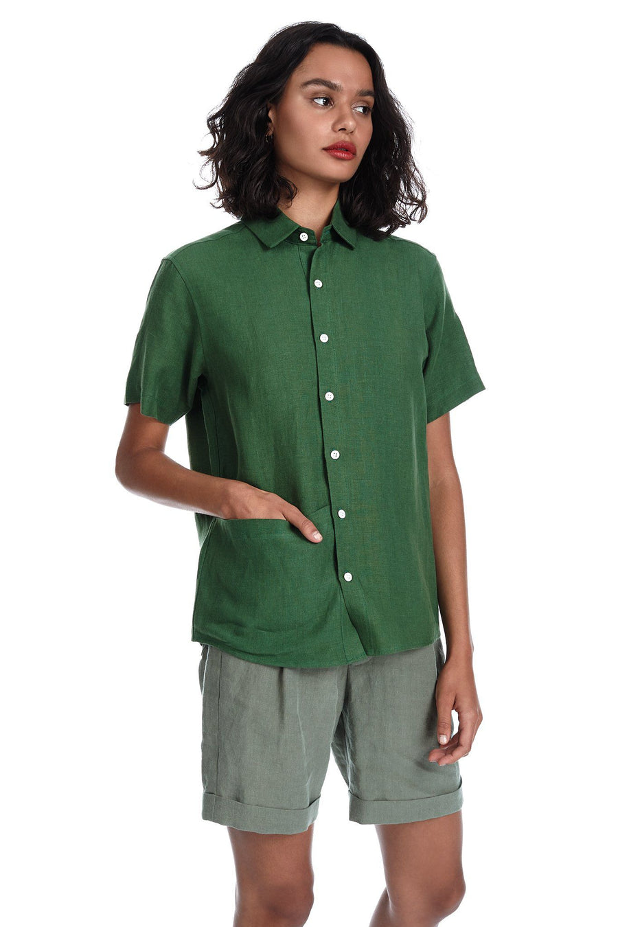 Soft Pocket Shirt in Leaf