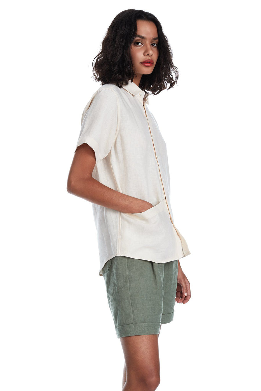 Soft Pocket Shirt in Shell