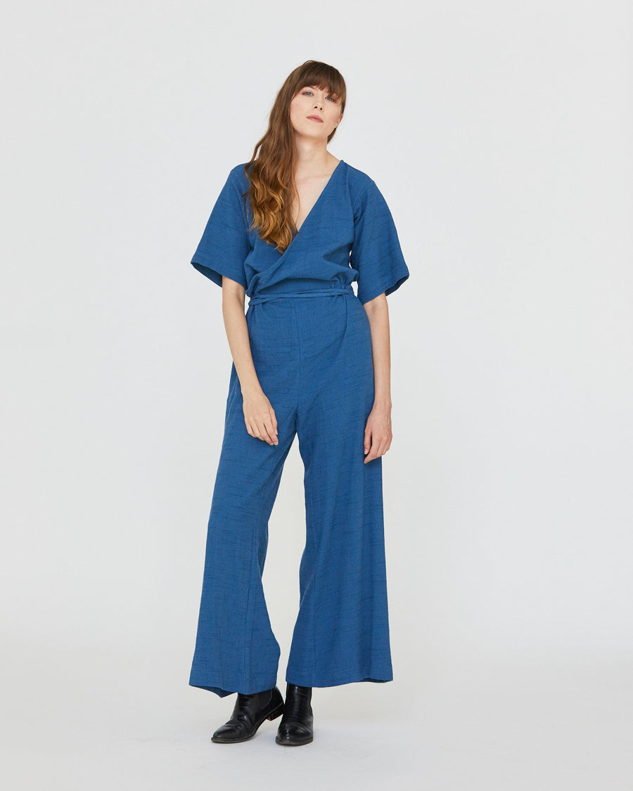 DUFFY WIDELEG JUMPER - DENIM BLUE