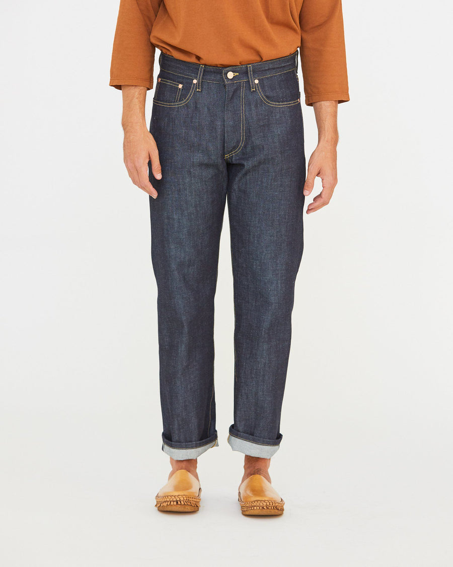 HARRIS 5 POCKET JEAN - INDIGO SELVEDGE DENIM