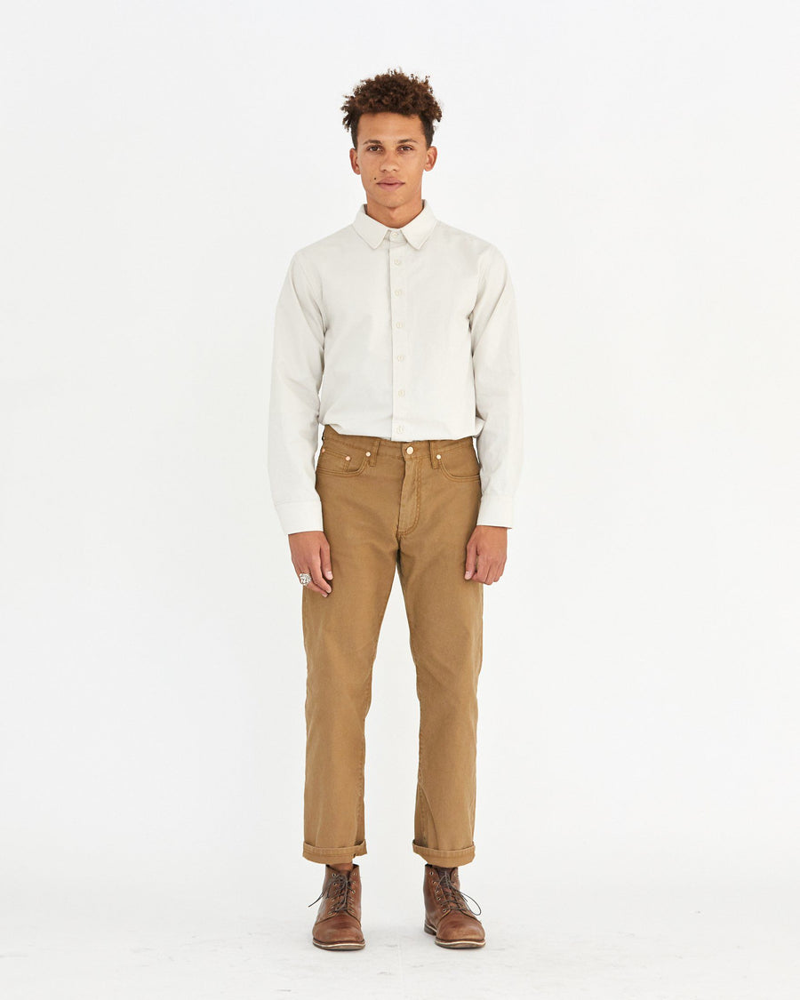 HARRIS 5 POCKET PANT - CLOVE