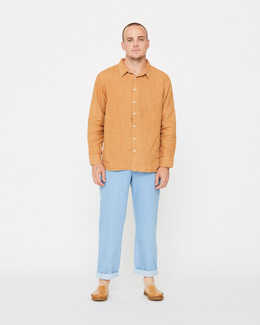 PERCY BUTTON DOWN - GOLDEN