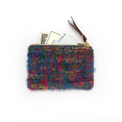 1940s Scottish Boucle Zipper Wallet