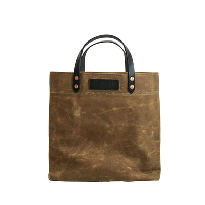 Grocery Tote - Waxed Canvas - Tan