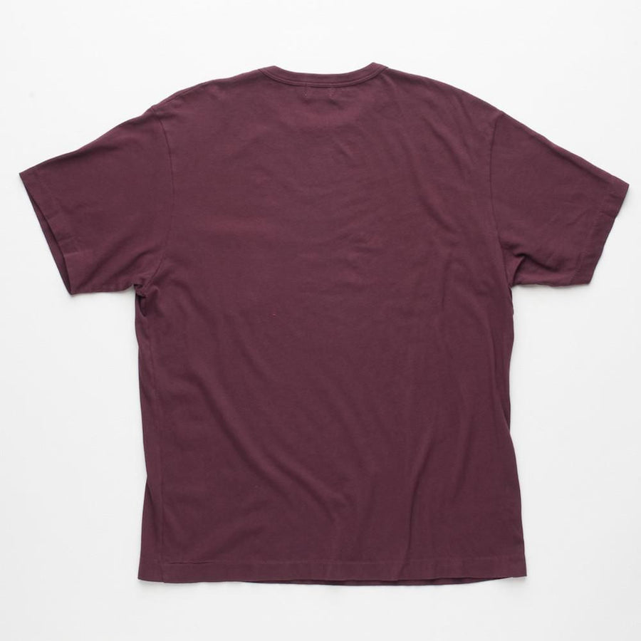 Vintage Wash Pocket T-Shirt Burgundy