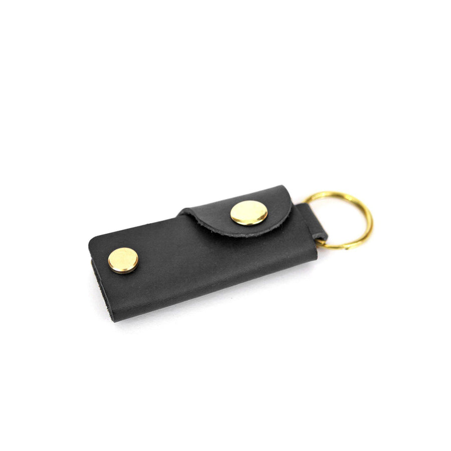 Leather Key Case - Black