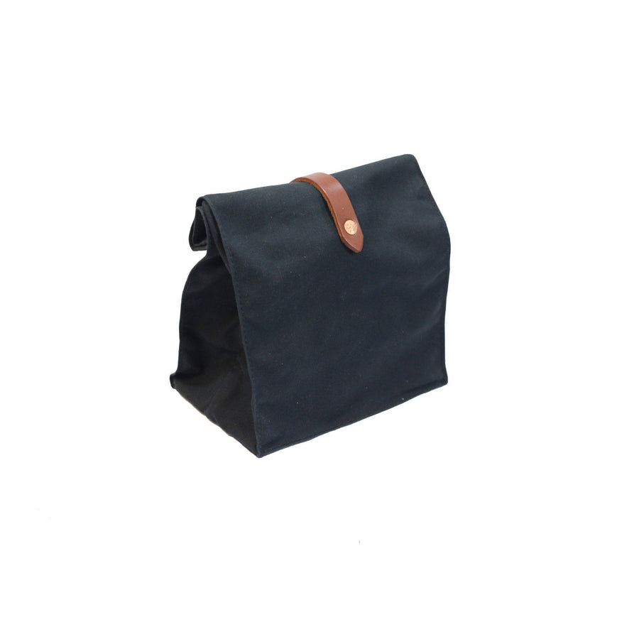Lunch Tote - Waxed Canvas - Black