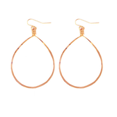 14k Rose Goldfill Oval Hoop Earrings