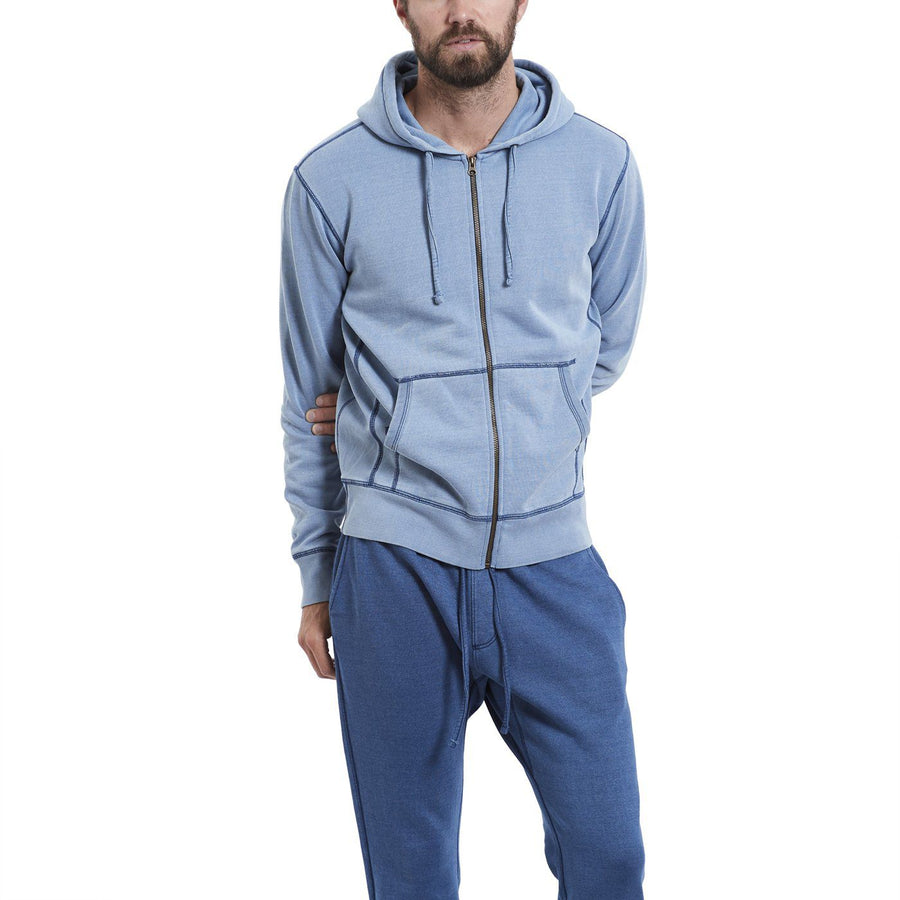 Indigo Fleece Zip Hoody