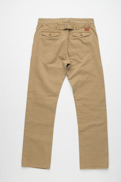 Buckle Back Chino  Herringbone Khaki