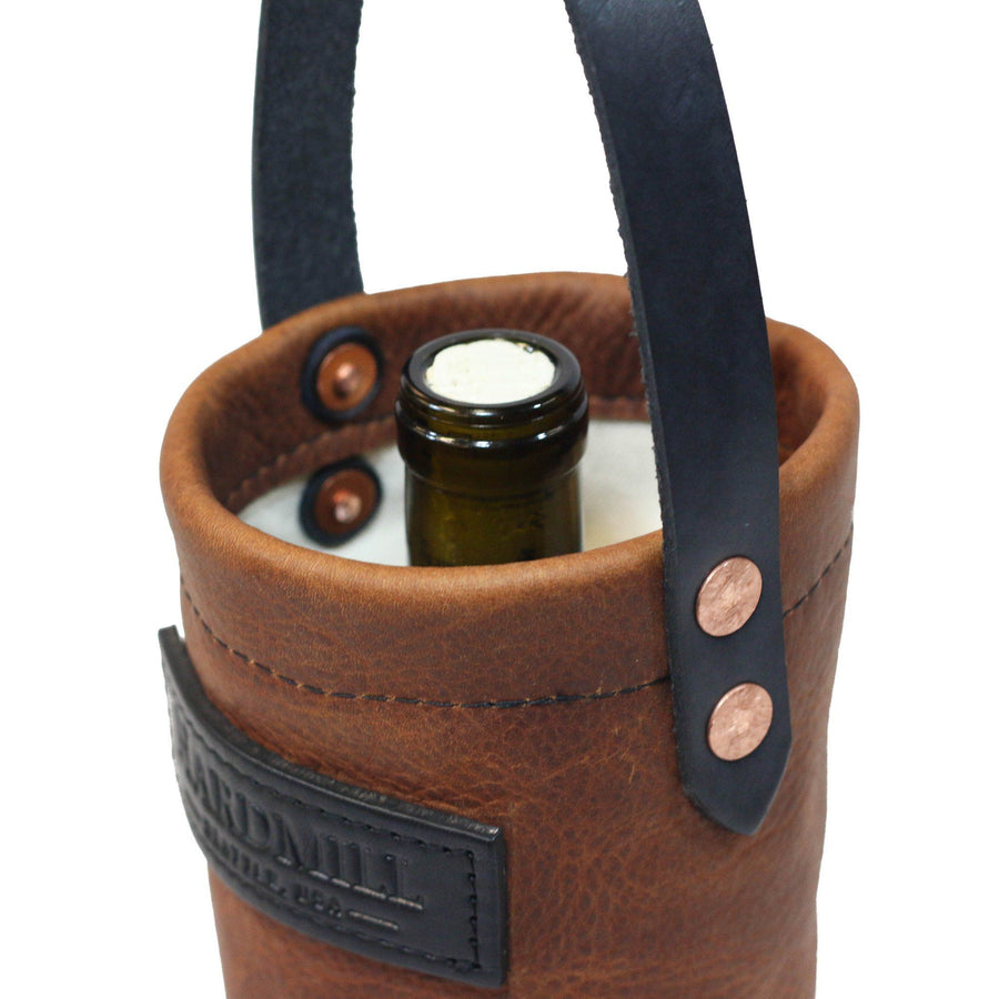 Wine Tote - Leather - Cognac