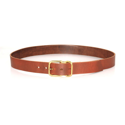 EE Signature Leather Belt - Chestnut Brass