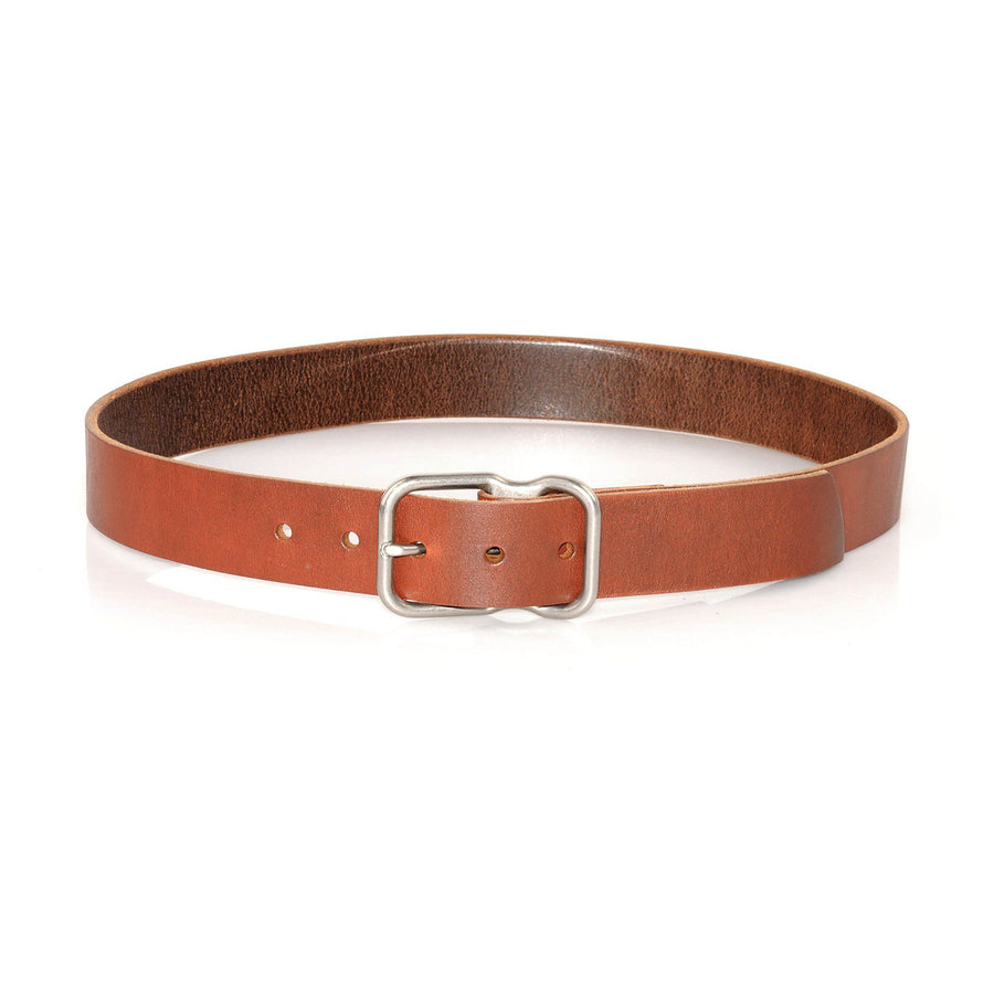 EE Signature Leather Belt - Chestnut Brushed Nickel