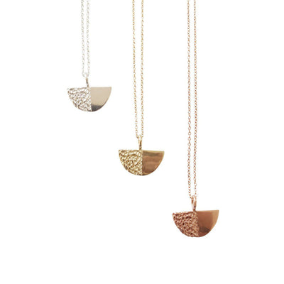 Disco Necklace, 14k