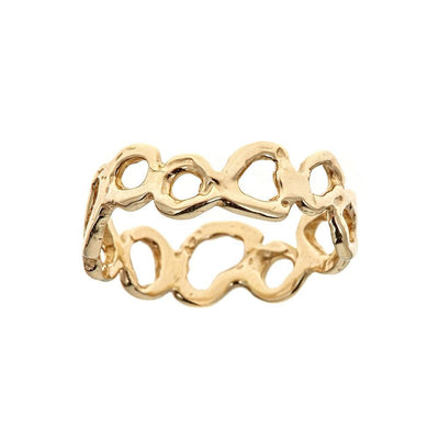 Morel Thin Ring, 14k