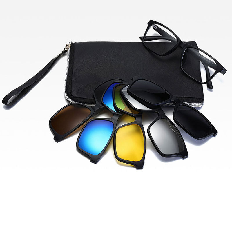 5 in 1 Swappable Polarized Sunglasses