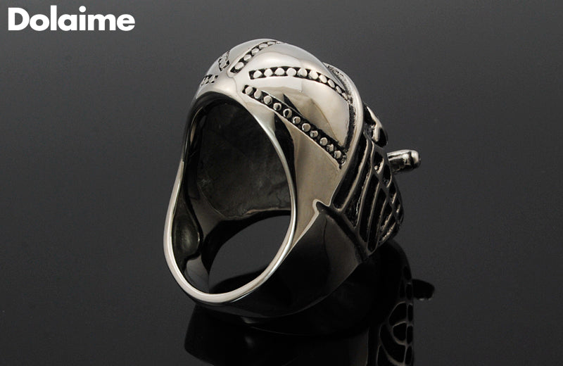 Stainless Steel Smoking Skull Ring for Men