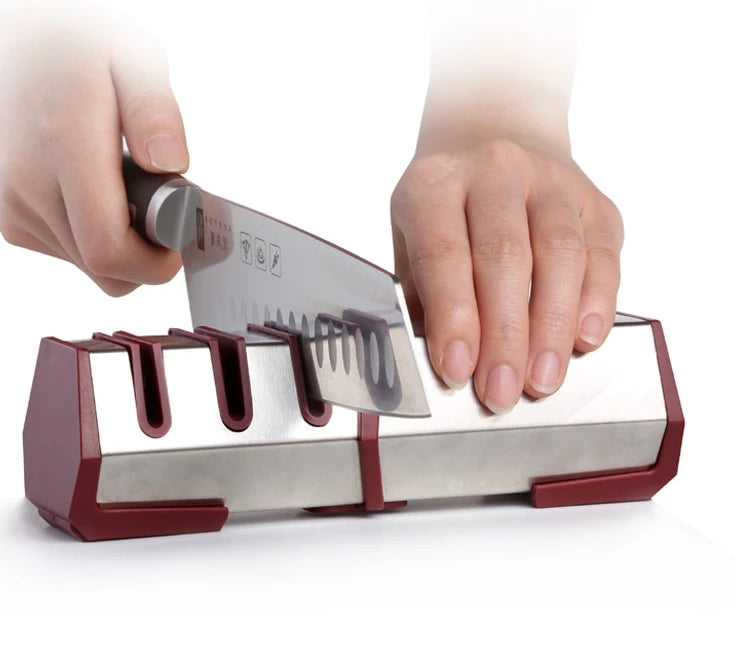 Professional Kitchen Knife Sharpener Diamond and Carbide Knife Tool
