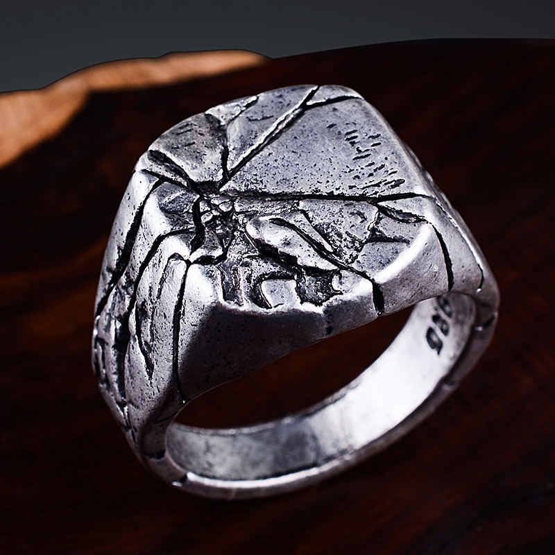 Men's Smooth Vintage Rock Punk Ring