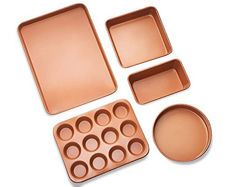 5 PIECE COPPER BAKING SET