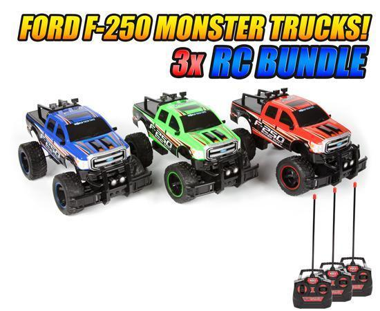 Ford F-250 Super Duty 1:14 RTR Electric RC Monster Truck 3-Pack Bundle