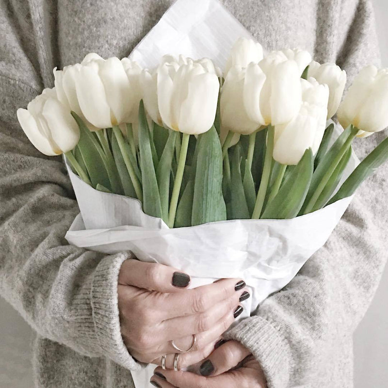 12 Real Touch Tulip Bouquet - comfortake