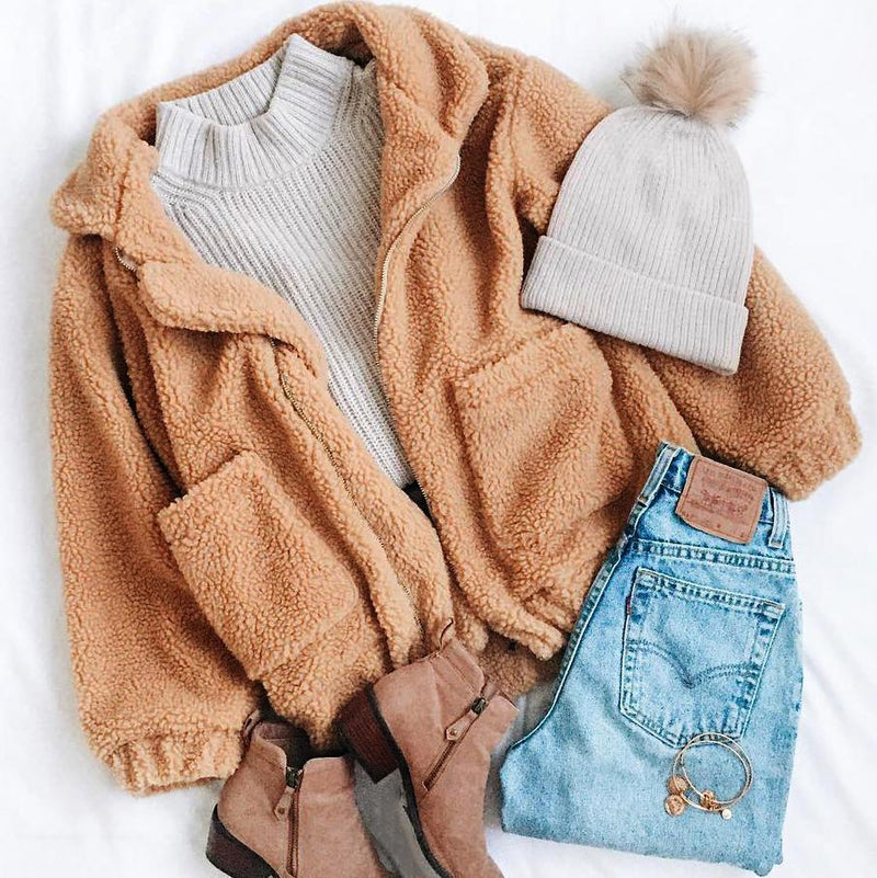 Cozy Teddy Jacket - comfortake