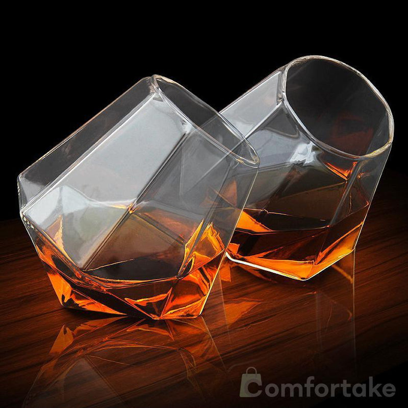 Diamond Whiskey Glasses Set (2 pcs) - comfortake