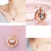 Hidden Message Lovers Necklace & Ring - comfortake