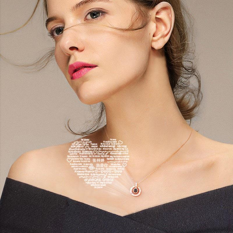 Hidden Message Lovers Necklace - comfortake