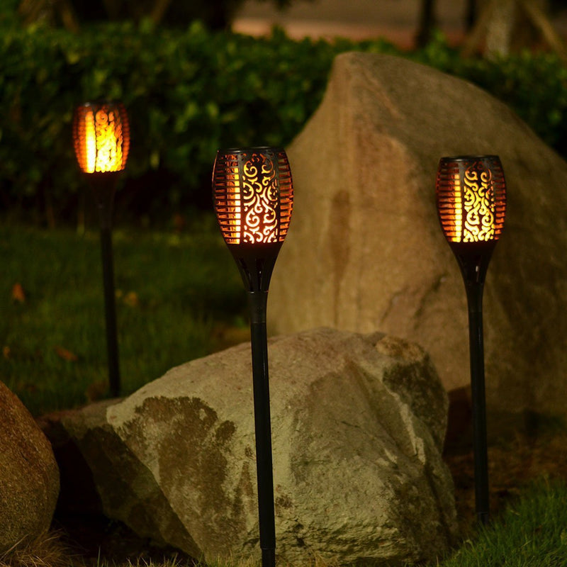 Outdoor Solar Flame Light Torch - comfortake
