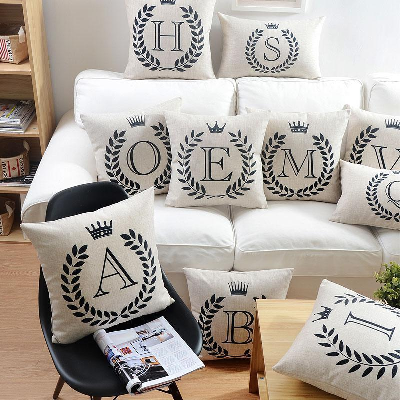 Personalized Alphabet Pillow Cover - comfortake