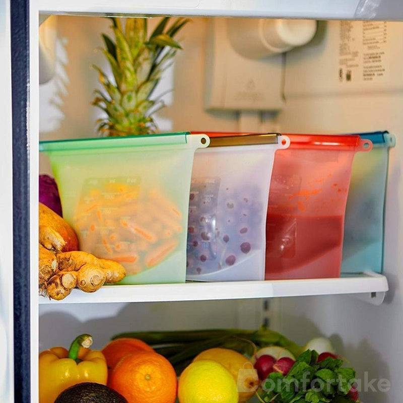 Reusable Food Storage Bags (FDA Approved Silicone) - comfortake