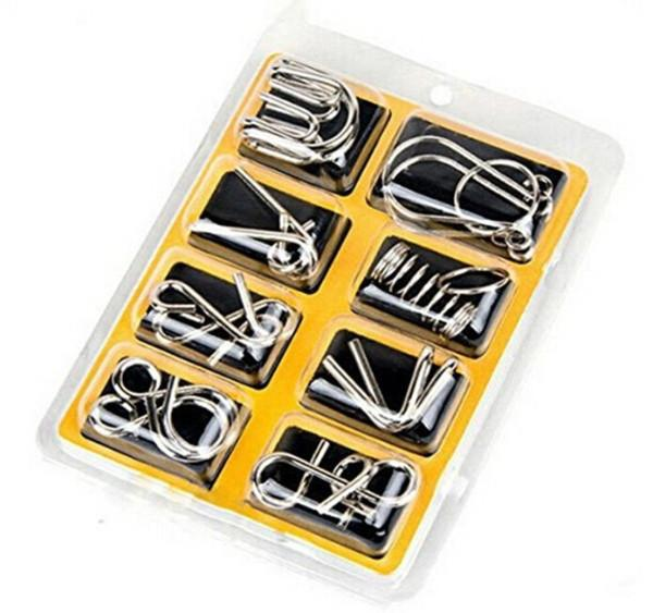 8 pcs/set Metal Wire Brain Teasers