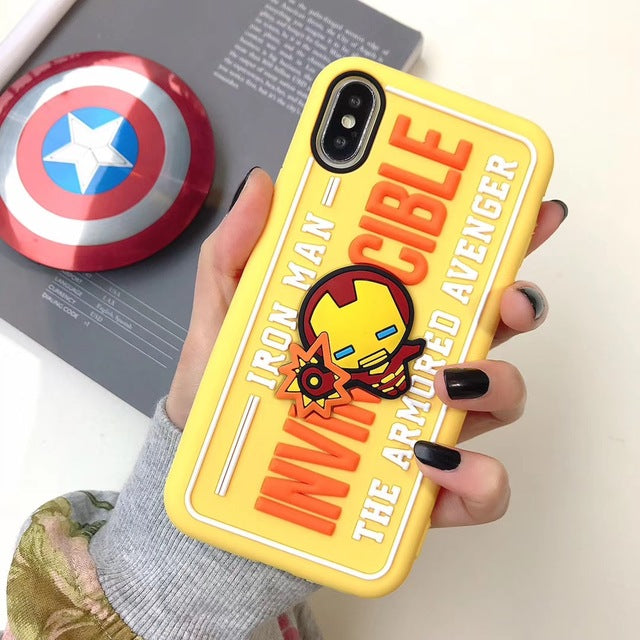 3D Stereo Marvel Avengers Case for iPhone - comfortake