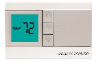Thermostat, Digital, Non Programable, 1 Heat / 1 Cool, Robertshaw PerfectSense PS2110