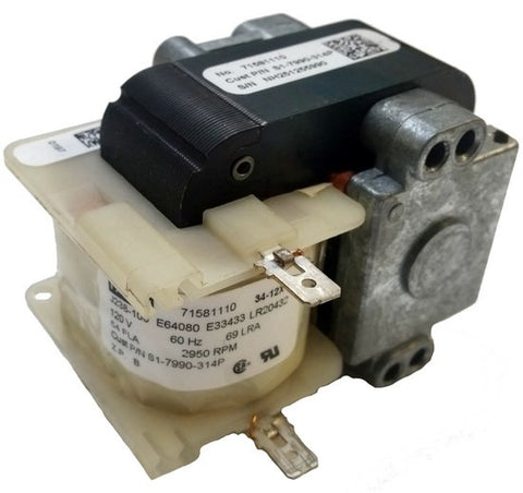 Combustion / Inducer Air Motor; S1-7990-314P, 0.69 A, 2950 RPM