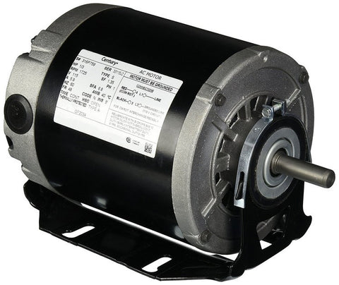 48 Frame Motor; 115V, 1/3 HP, 1725 RPM, 1 Speed, GF2034