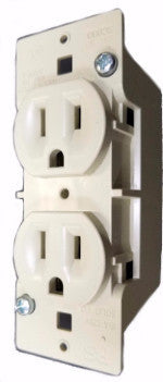 Duplex Receptacle, 125V, 15A, 1 PC, Ivory