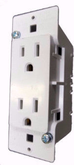 Receptacle, 125V, 15A, 1 PC, White