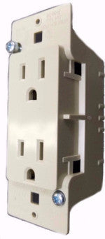 Receptacle, 125V, 15A, 1 PC, Ivory