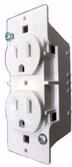 Duplex Receptacle, 125V, 15A, 1 PC, White