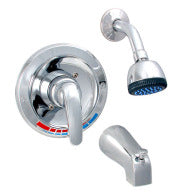 Tub and Shower Faucet -  1 Handle Style