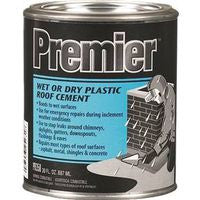 Roof Cement - Plastic - Black, Wet or Dry, 1 Quart