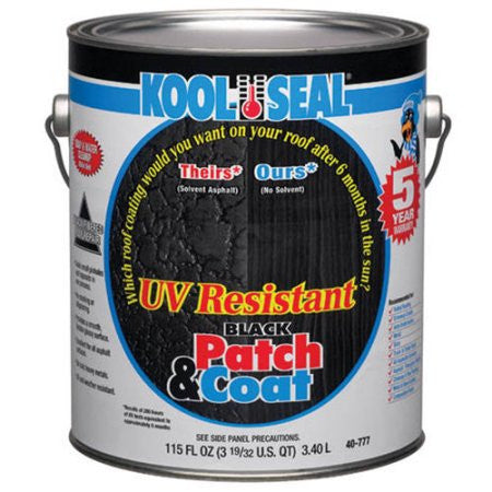 Roof Cement - Patch & Coat - UV Resistant, Black