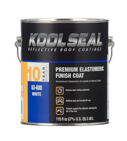 Roof Coating - White Elastomeric - Premium Grade, 10 Year