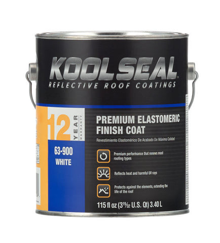 Roof Coating - White Elastomeric - Premium Grade, 12 Year