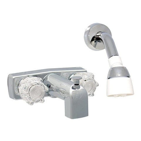 "Tub and Shower Faucet - 4"" Centers w/ Concealed Shower"